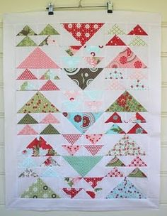 And here's the finished quilt from Two Little Banshees, her April 2011 blog post