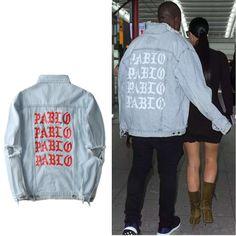 Denim Jacket Fear of god Justin Bieber coat PABLO high street Hole Kanye west men women Fashion Jackets Outerwear