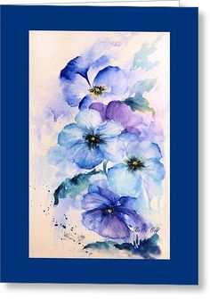 Pansy Blues Painting by Bette Orr