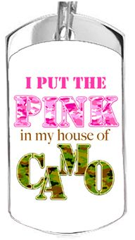 """""""Pink Camo"""" smooth dog tag. Comes with a 28"""" chain. $22, #pinkcamo,#military,#dogtags,#military"""