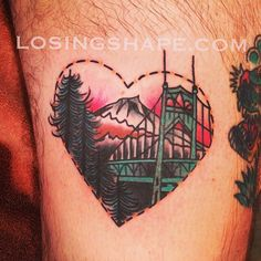 losingshape:  Did matching Portland tats today. This one is on Dominick! Sitting next to a sweet @stevieedge tattoo! It's a little warped in...