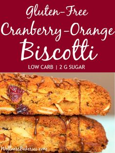 Gluten-Free Biscotti with Cranberries and Orange Essence (Low Carb, Low Sugar) - Wellness Bakeries