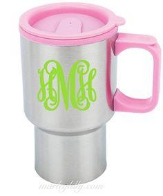 Monogrammed Stainless Steel Mug | Custom Coffee Cup | Marley Lilly