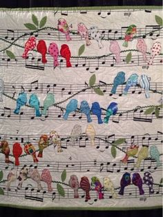 Periwinkle Quilting and Beyond: Quilts from Houston 2015. This is Birds by Cecilia Koppmann from Argentina.