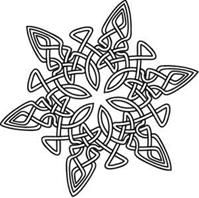 Celtic Snowflake $1.00 hand embroidery pattern