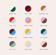 Our newest fall color theory guide to help you decide your next power couple. Tell us your favorite below. Colour Schemes, Color Combos, Color Patterns, Fashion Color Combinations, Website Design, Web Design, Design Color, Graphic Design Inspiration, Color Inspiration