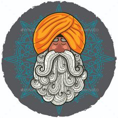 Find Cartoon Portrait Indian Guru Big Beard stock images in HD and millions of other royalty-free stock photos, illustrations and vectors in the Shutterstock collection. Art And Illustration, Graphic Design Illustration, Mandala Art, Mandala Drawing, Doodle Art Drawing, Art Drawings, Rajasthani Art, Mini Canvas Art, Madhubani Art