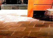 Rectangular tiles in brick pattern
