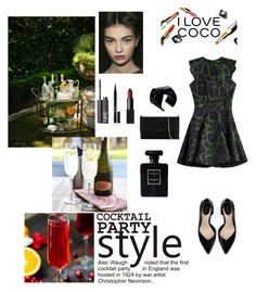 """Cocktail Party"" by amila-terzic ❤ liked on Polyvore featuring мода, Alexander McQueen, Zara, Lanvin, Vionnet, NARS Cosmetics, Elizabeth Arden и Chanel"