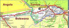 Map of Caprivi Strip
