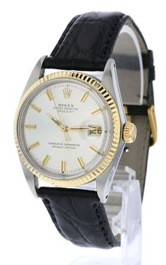 """Rolex DateJust Men's with """"Fat Boy"""" Silver Dial Rolex Watches For Sale, Rolex Datejust, Vintage Watches, Omega Watch, Silver Jewelry, Fat, Boys, Accessories, Women"""