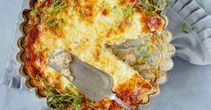 Saimi Hoyerin lempisienet, haperot päätyvät mehevään piirakkaan. Itse tehty ruis-perunataikina on loistava sienipiirakan pohja. Quiche, Breakfast, Food, Morning Coffee, Essen, Quiches, Meals, Yemek, Eten