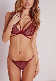 Missguided - Red lace bra