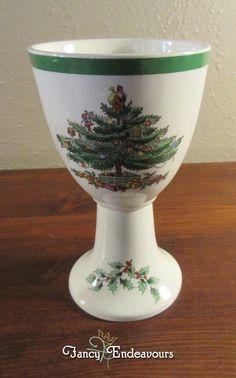 Spode Christmas Tree China Wine Goblet Chalice #Spode