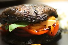 A House Full of Health: Portobello Stack with Roasted Red Pepper Coulis