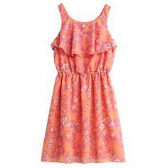 Mudd Butterfly Chiffon Dress - Girls 4-6x