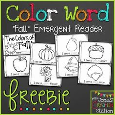 The Colors of Fall: Emergent Reader FREEBIEThis emergent reader provides learners with repetitive text to help them learn color words.  You can find this book and more in my Fall: Preschool, Pre-K, and Kindergarten Resources Packet.  ***************************************************************************Check out these related productsFall: Preschool, Pre-K, and Kindergarten Resources Packet***************************************************************************Customer Tips:How to…