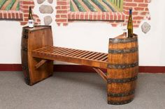 Wine Barrel Project Bench