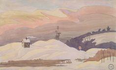 Charles E. Burchfield (1893-1967), House on Snowy Hills