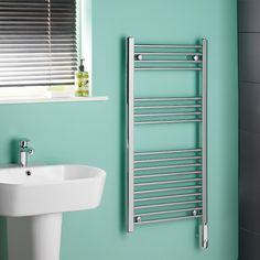 Kudox - Chrome Curved Thermostatic Electric Towel Rail x Kudox –. Kudox – Chrome Curved Thermostatic Electric Towel Rail x Kudox –… Kudox – Ch Electric Towel Rail, Cloakroom Suites, Towel Warmer, Support Mural, Heated Towel Rail, Heating Element, Central Heating, Heating Systems, Home Goods