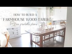 Learn how to build the farmhouse dining table of your dreams that can be added into any home for some good 'ol fashion warmth, character, and family. Farmhouse Dining Room Table, Farmhouse Furniture, Dining Table, Diy Furniture Projects, Wood Projects, Custom Woodworking, Woodworking Projects, Build A Farmhouse Table, Ol Fashion