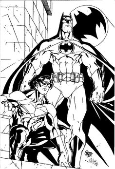 Batman and Nightwing by Roger Cruz by EdHale  coloring pages