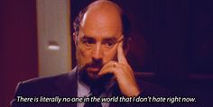 "Richard Schiff was very upset about what happened to Toby in the final season. | 27 Surprising Facts About ""The West Wing"" You Probably Didn't Know"