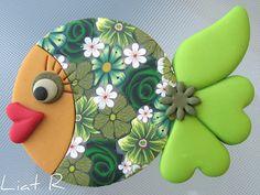 Polymer clay fish magnet | Flickr: Intercambio de fotos
