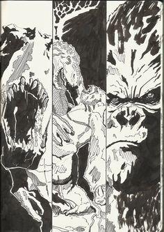 King Kong vs Venatosaurus rex comic page by berksenturk.deviantart.com
