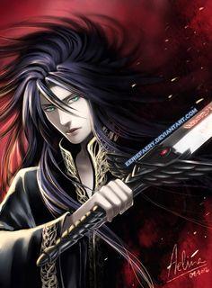 Hades-Saint Seiya, drawn by EErieFaery. From DeviantArt Hades Und Persephone, Troll, Saint Seiya Lost Canvas, Knights Of The Zodiac, Saints, Fantasy Male, Hot Anime Guys, Good Manga, Underworld