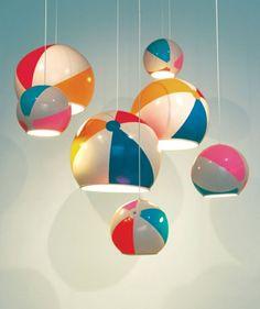 design leuchten kugel pendelleuchte strandball lampenschirm