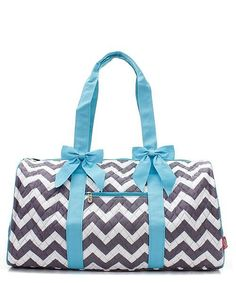 Chevron Print Quilted Duffel Bag - 4 Color Choices  #preppy #sale #2017fashion #accessoriesontheboardwalk #angelamillerdesigns #monogrameverything #lovespring #likeusoninstagram #preplife #beachlife