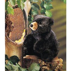 Folkmanis FM2232 Baby Black Bear Puppet.   Distributed by Kaleidoscope Australasia.