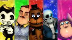 Undertale, Hello Neighbor, Tattletale, Five Nights at Freddy's & Bendy and the Ink Machine.