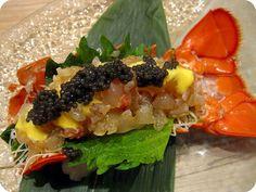 Lobster sashimi Sushi Ideas, Sashimi Sushi, Lobster Rolls, Exotic Food, Foods To Eat, Sea Food, Fish And Seafood, Japanese Food, Gourmet