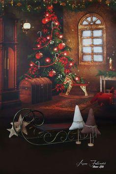 Weihnachtshintergrund und Deko