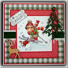 Lili of the valley challenge and sneak peek Create Christmas Cards, Christmas Art, Handmade Christmas, Fall Cards, Winter Cards, Xmas Cards, Boy Cards, Cute Cards, Handmade Card Making