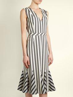 Anemone striped wool and cotton-blend midi dress | Altuzarra | MATCHESFASHION.COM US
