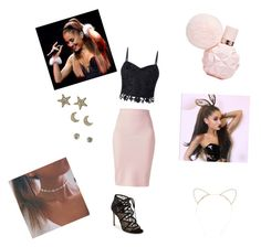 """""""Ariana grande look"""" by rudycastaneda-rc on Polyvore featuring Winser London, Lipsy, M.A.C and Pour La Victoire"""
