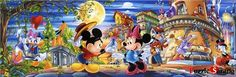 """$25.9 Jigsaw Puzzles 1000 Pieces """"Mickey's Love Confession"""" / Disney / Clementoni"""