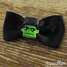 Frankenstein Halloween Hair Bow by rapscalliondesign on Etsy, $14.38