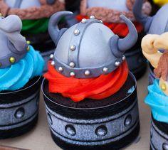 Viking Helmet Cupcake Topper Tutorial | Tikkido.com