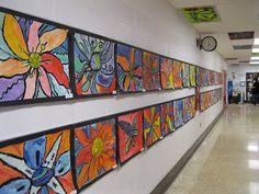 love this blog!!  The Art Room at The Falcon Academy of Creative Arts: 3rd grade art - O'Keeffe flowers