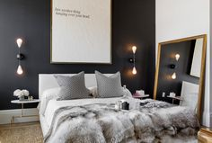 How to Create Stunning Interior Design in Black n White, 100 Plus 30 Black White Decor Ideas – Lushome Modern Bedroom Decor, Contemporary Bedroom, Home Bedroom, Bedroom Ideas, Bedroom Designs, Master Bedroom, Eclectic Bedrooms, Bedroom Small, Bedroom Furniture