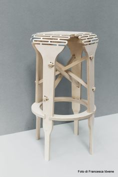 Felix, finalist in designwedstrijd Back to Stool. Foto: Francesca Ióvene.