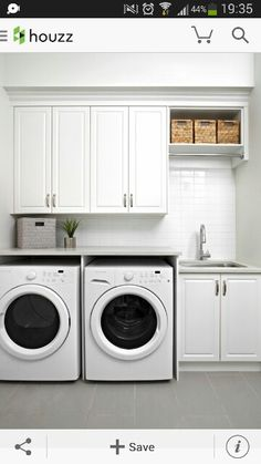 Small laundry room design ideas will certainly assist you to take pleasure in the location around your washer and also clothes dryer. Locate the best ideas for 2018 as well as transform your laundry room design Laundry Room Remodel, Laundry Closet, Laundry Room Organization, Laundry Storage, Laundry In Bathroom, Basement Laundry, Organization Ideas, Laundry Organizer, Laundry Area