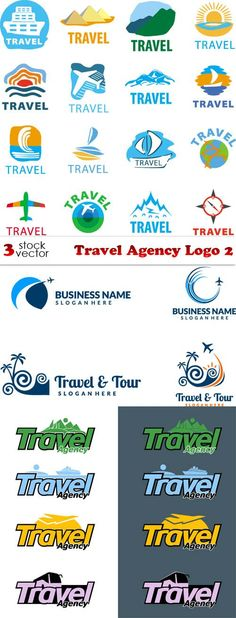 39 best travel agency logo images in 2018 Travel And Tours Logo, Travel Agency Logo, Travel Logo, Travel Maps, New Travel, Holiday Travel, Logo Inspiration, St Malo, Travel Journal Pages