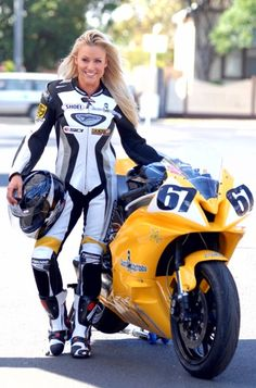 Stacy McMahon - Australian fitness model & Motorbike Racer