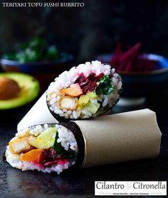 Teriyaki Tofu Sushi Burrito @Cilantro_Citron #cilantroandcitronella   @Mj0glutenVG #0GlutenVegeBrest  #sansgluten #VEGAN #glutenfree #singluten #Teriyaki #Tofu #Sushi #Burrito  http://0-gluten-vege-brest.weebly.com/vegan-sg-monde--vegan-gf-world/teriyaki-tofu-sushi-burrito