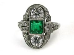 Art Deco Emerald Ring http://www.cynthiafindlay.com/Art-Deco-Emerald-Ring/prod_2302.html